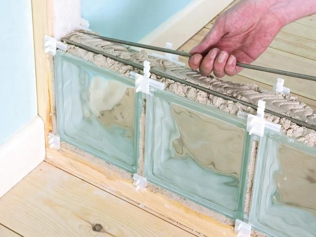 How to Build an Interior Glass Block Wall   how-tos   DIY