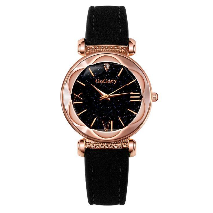 2018 Luxury Brand Gogoey Watch Women Watches Starry Sky Watch Rose Gold Women's Watches Montre Femme Clock Relogio Feminino