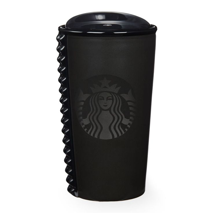 A double-walled ceramic mug featuring a cool studded pattern, part of the Starbucks Dot Collection.