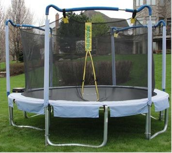 RECALL: On 2012-11-28, Consumer Product Safety Commission (CPSC) announced a voluntary recall of Sportspower Trampolines due to injury hazard due to metal legs moving out of position.  About 23,400 are recalled and were sold exclusively at Sports Authority from April 2007 to May 2012. Free Repair kits are available by calling 888-965-0565