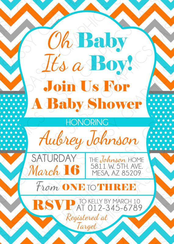 Best Baby Boy Shower Invitation Images On   Baby