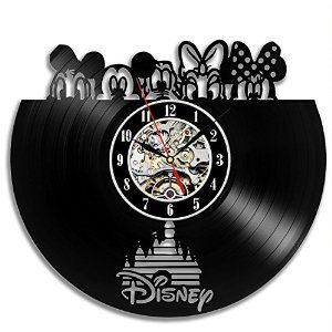 Amazon.com: Disney Vinyl Record Wall Clock - Decorate your home with Modern Art - Gift for kids, girls and boys - Win a prize for a feedback: Home & Kitchen