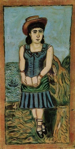 Κοριτσι με το καπελο, Θεόφιλος Κεφαλάς - Χατζημιχαήλ | Καμβάς, αφίσα, κορνίζα, λαδοτυπία, πίνακες ζωγραφικής | Artivity.gr