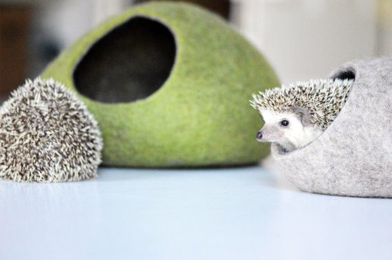 Hedgehog bed / small animal cave / small pet bed / felted pet