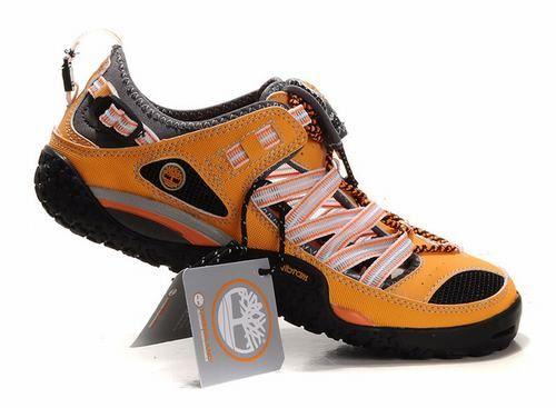 Barato Timberland Hombres Botas - Zapatos Timberland Beach Negro Naranja