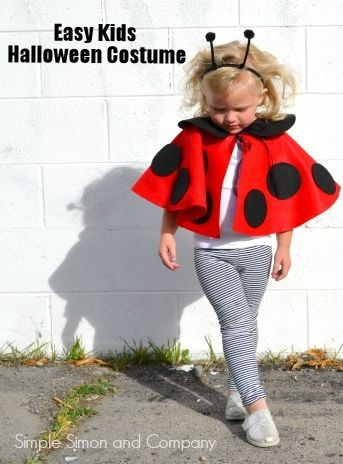 Lady Bug Cape Costume by @simplesimonco | Easy Kids Halloween Costume | DIY Lady Bug Costume