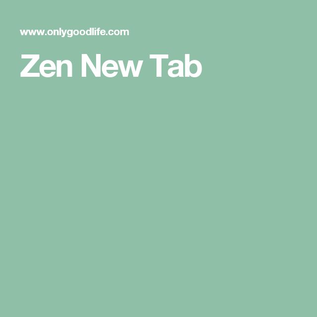 Zen New Tab