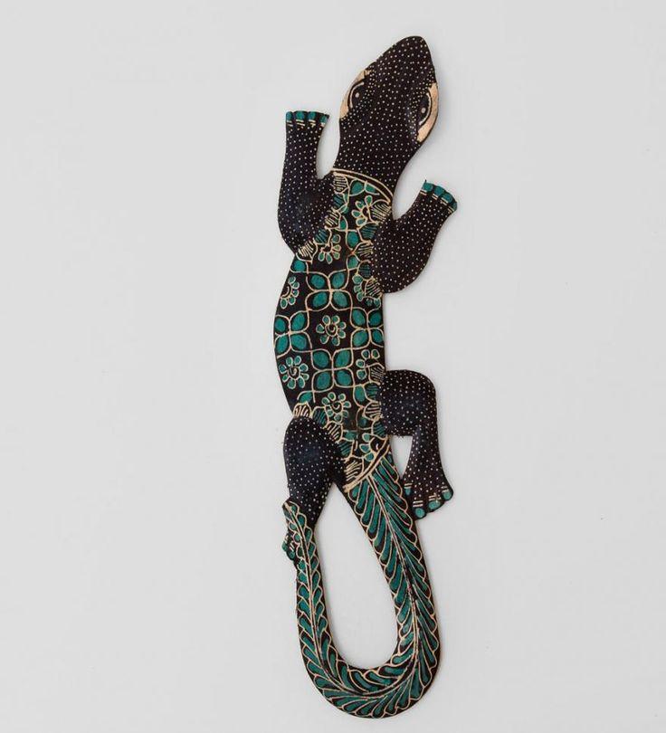 Панно настенное ''Геккон Джава'' (батик, о.Ява) 40см Материал: Изделия из дерева  Страна производства: Индонезия