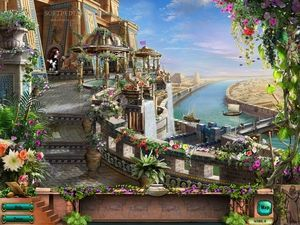 美しい庭園。バビロンの空中庭園