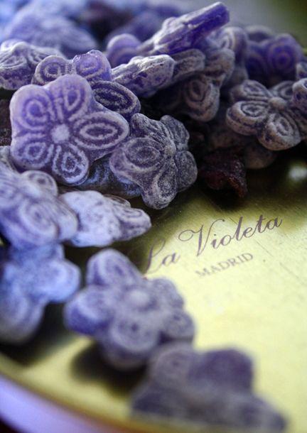 violettes en sucre
