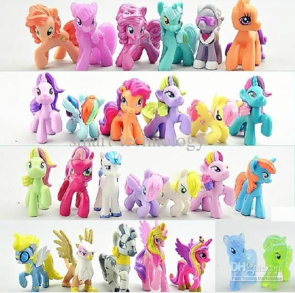 Wholesale Little Pony - Buy My Little Pony Loose Action Figures Toy 4-6CM Pony Littlest Figure Xmas Gift For Kids $1.01 | DHgate
