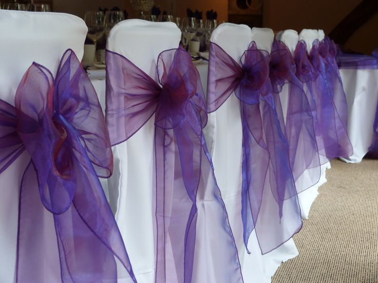 Cadbury Purple #ceremony Set up Boughton Golf Club (East Kent)  http://www.ambiencevenuestyling.com/contact-us/kent-east/