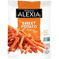 Alexia's crispy Sweet Potato Fries with Sea Salt use natural ingredients to create amazing flavor. Take dinner up a notch with our crispy sweet potato fries. #AlexiaFreezerLove