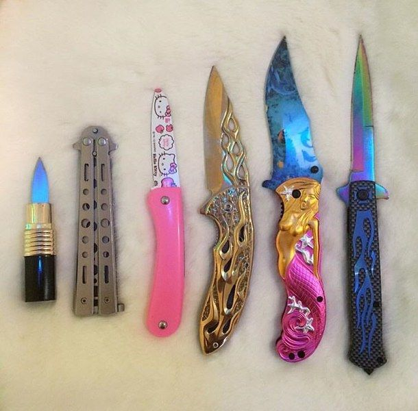 colours, knives, grunge, hippie