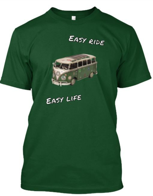 Travelers enjoy life. An easy life an easy ride. This T1 will never let you down. Feel the freedom and show it to the people by wearing this great T-shirt. Original design by HJP.