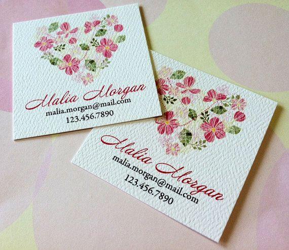 Personalizzati carte telefoniche di biglietti da visita floreali - Set di 48