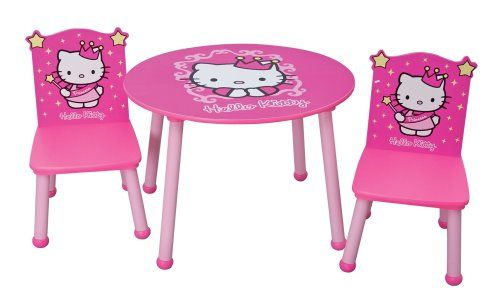Kidkraft hello kitty princess table chair set for Table exterieur hello kitty