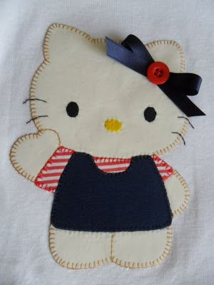 la sastrecilla valiente : camiseta navy kitty