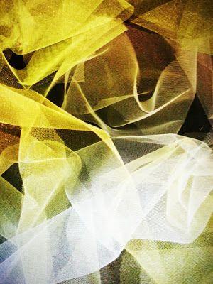 Diary of Rainbows: Lemonade, Limeade tulle, fabric, mixed media art