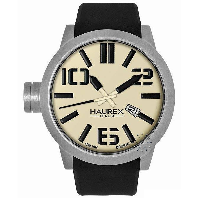 HAUREX ITALY TURBINA Black Rubber Strap, 177€ http://www.oroloi.gr/product_info.php?products_id=27951