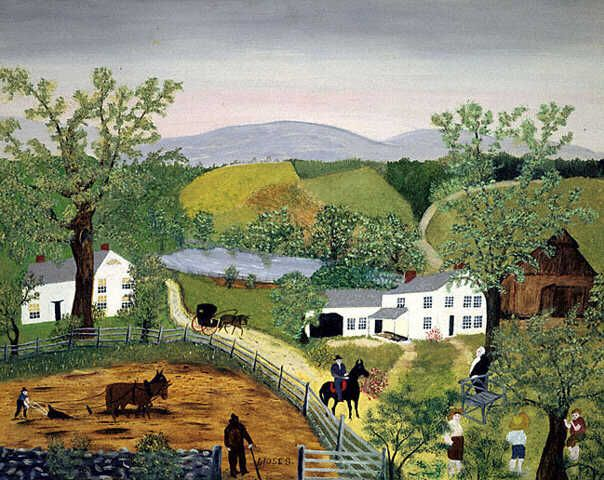 grandma moses paintings | Grandma Moses on Creatively Keeping Busy