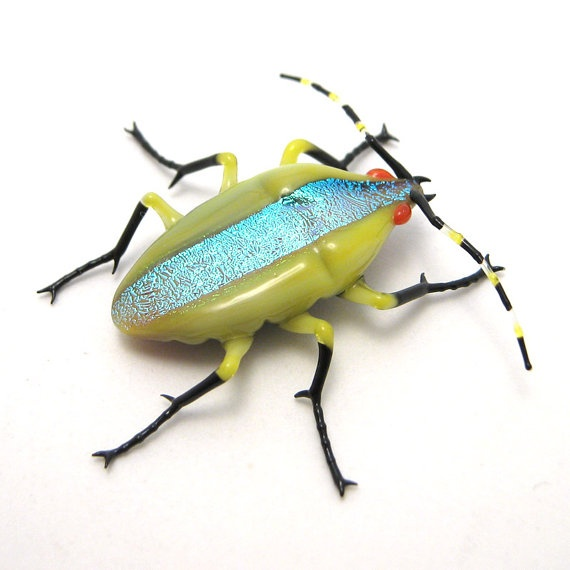 Stripe Beetle made out of glass.: Wesley Fleming Strips, Fleming Strips Beetles, Racing Stripes, Glasses, A Insects, Beatles, Stripes Beetles, Artsy Insects, Beetles Art
