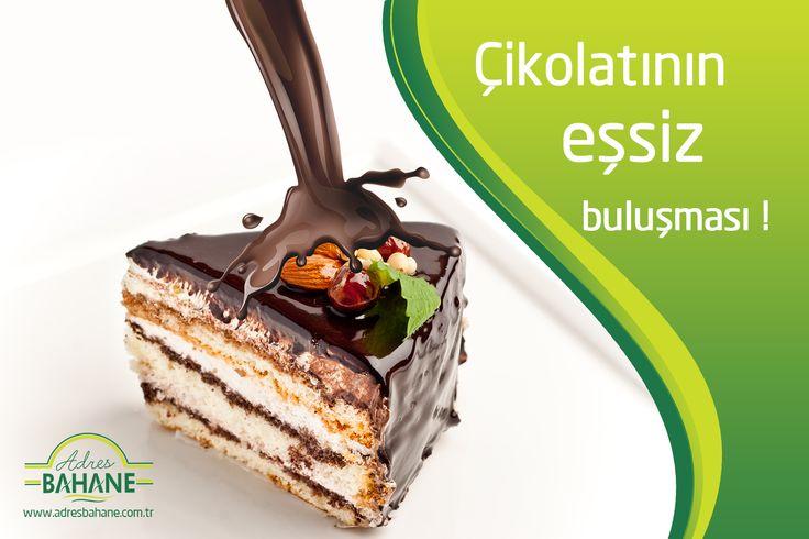 Çikolatanın eşsiz buluşması ! www.adresbahane.com.tr