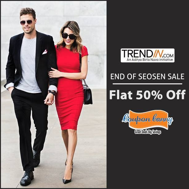 The End Of Season #Sale: Flat 50% Off at #Tredin! Claim Now : http://www.couponcanny.in/end-of-season-sale-deals/