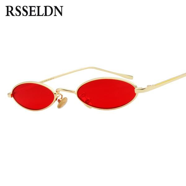 5f45dd8007e  FASHION  NEW RSSELDN Brand Women Small Oval Sunglasses Fashion Metal Frame  Men Clear Yellow Red Vintage Sun Glasses Female 2018 Shades…
