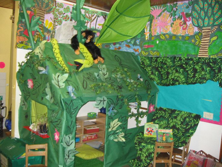 15 best images about jungle role play on pinterest for Jungle themed playroom