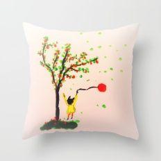 The little girl Throw Pillow