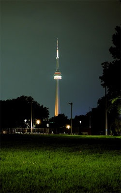 View of CN Tower from TBW