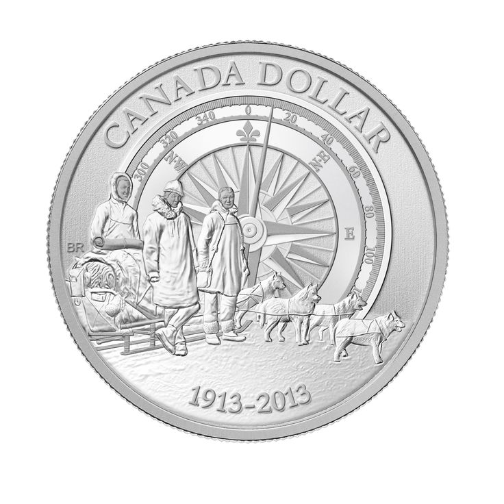 Silver Dollar Specimen Set - 100th Anniversary of the Canadian Arctic Expedition (2013)