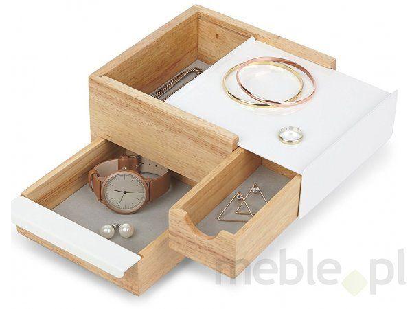 Pojemnik na biżuterię Stowit Mini biały Umbra 1005314-390, UMBRADesign - Wyposażenie wnętrz
