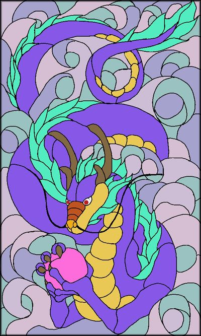 dragon stain glass | Get the stained glass pattern you want delivered instantly to your ...