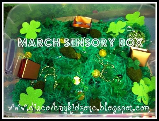 march sensory box from discovery kidzone montessori adventures