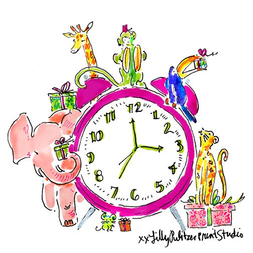 """We just made every hour a HAPPY HOUR. A different gift with purchase every hour, on the hour, for the next 24 hours only at lillypulitzer.com.   P.S. Follow us for on Snapchat, at """"lilly_pulitzer"""" for THE first look into our Cyber Monday promotion and MORE."""