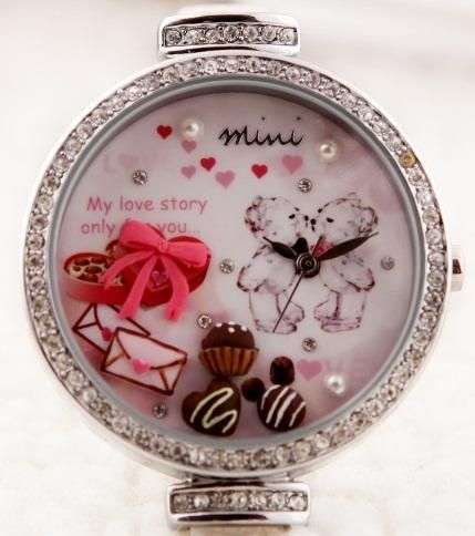 NEW Korea Mini Watch 3D Chocolate Design Crystal Watch (Johor, end ...