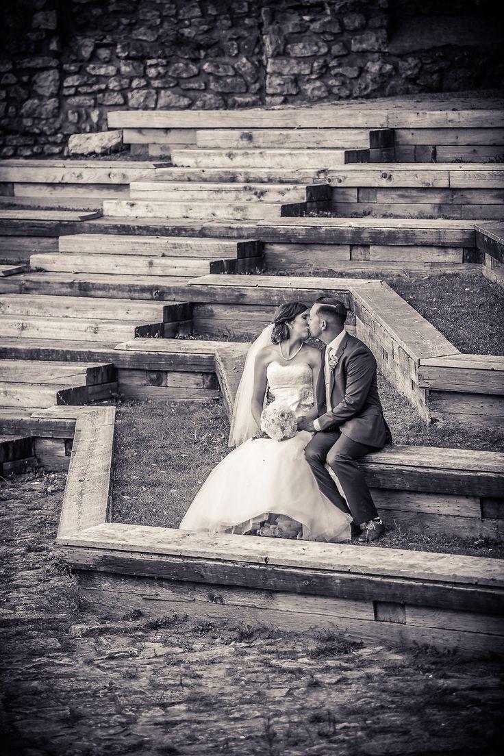 Romantic Galt Wedding Cambridge Mill Race Park Black And White