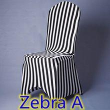 Cadeira de escritório capas para cadeiras de plástico zebra print top qualidade lycra spandex estiramento cadeira do banquete capa para decoração do casamento(China (Mainland))
