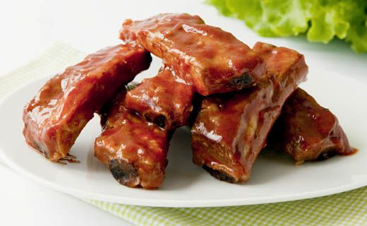 Slow Cooker Stampede BBQ Ribs - Come home to a dinner of tender, juicy 'barbecued' ribs — cooked while you were out!
