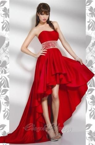 Свадебные платье красные короткие