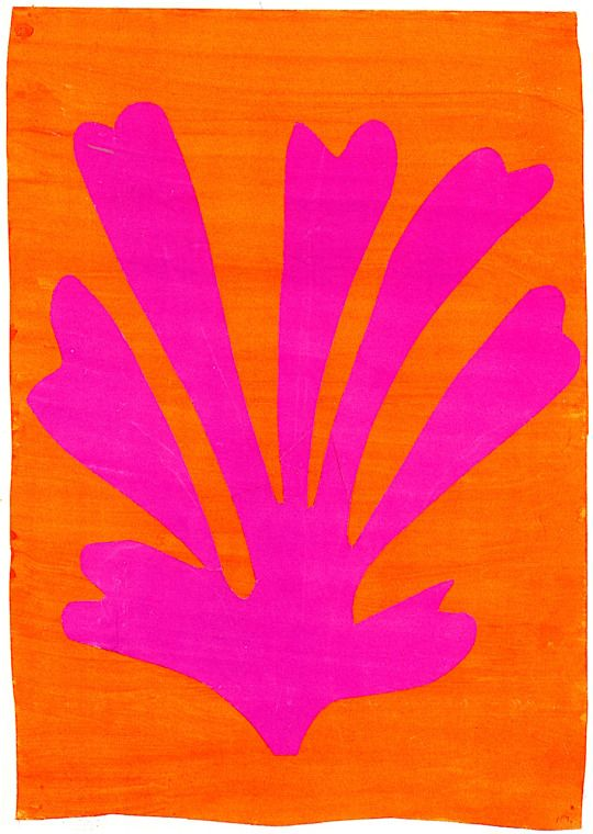 ca 1947, Henri Matisse: Palmette. Painting - gouache 64 x 45 cm. Private collection.