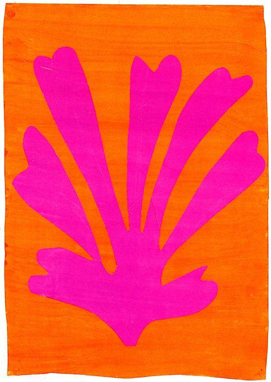 ca 1947, Henri Matisse: Palmette. Painting - gouache 64 x 45 cm