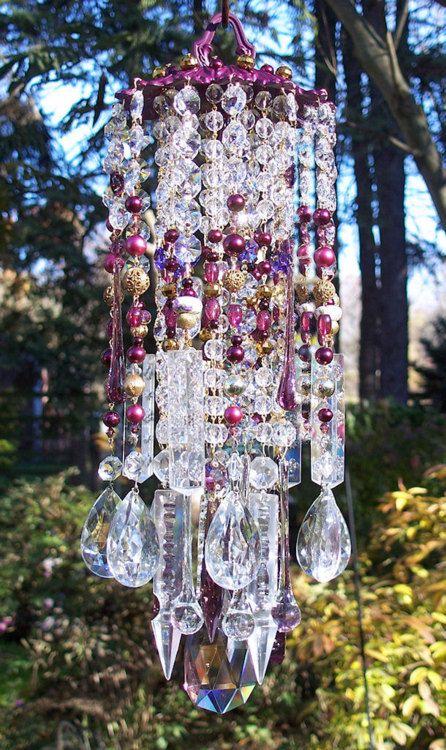 glass yard art images | Dishfunctional Designs: Dreamy Bohemian Garden Spaces