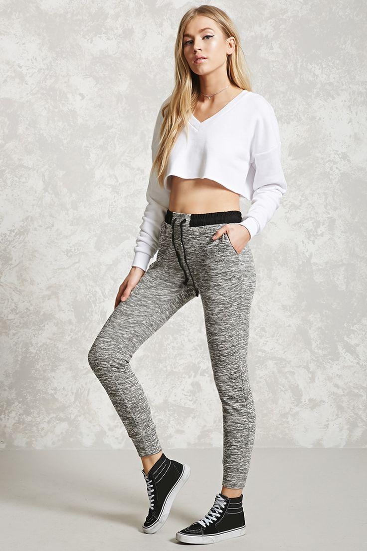 Marled Knit Sweatpants