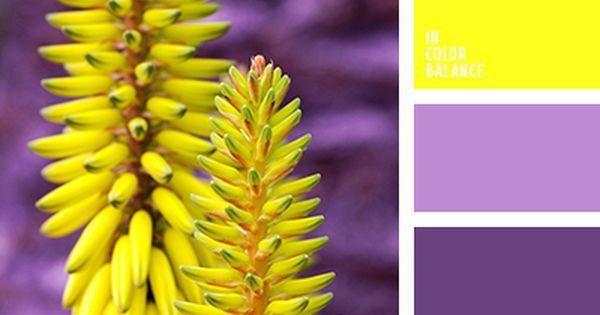 Liked on Pinterest: Желтый цинк  яркое пятно в магическом сиянии фиолетового цвета. Стоит правильно расставить точки фокуса в дизайне и от этой цветовой гаммы трудно будет оторвать взгляд.