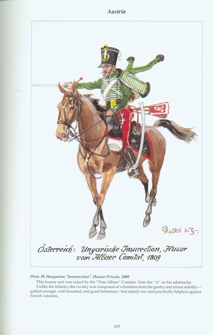 "Austria: Plate 39. Hungarian ""Insurrection"", Hussar Private, 1809"