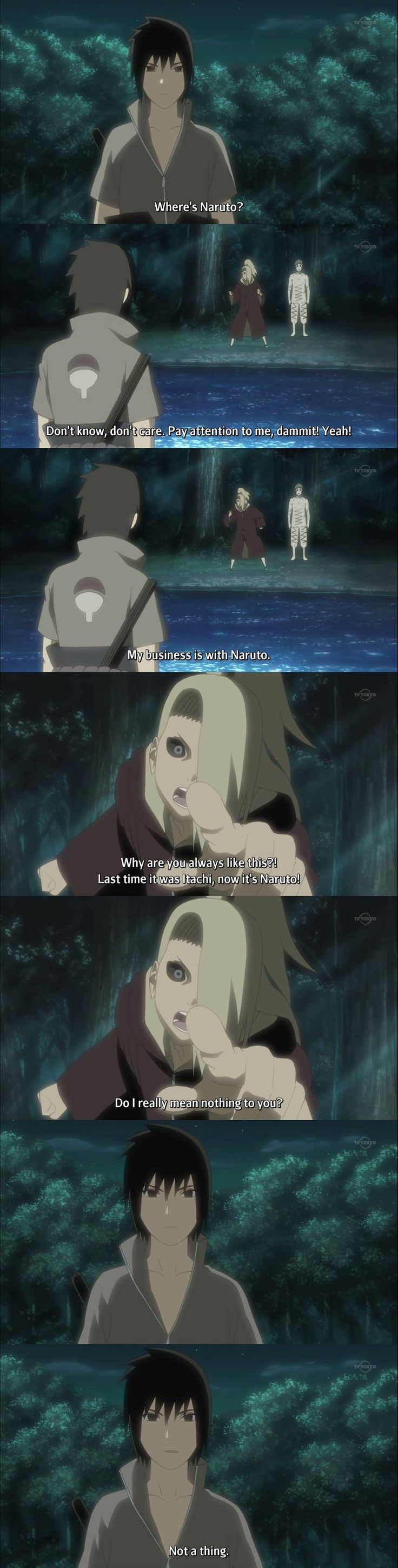 Naruto Shippuden Episode 280 I love Sasuke lol