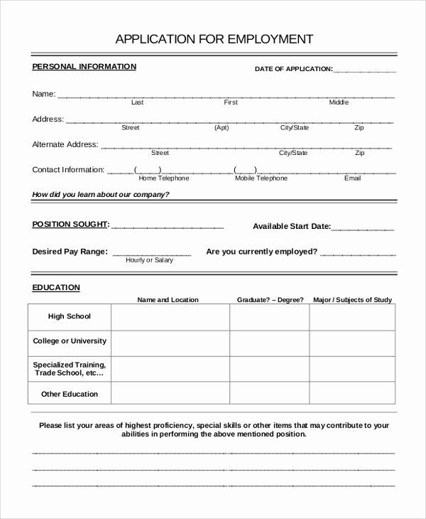 Job Application Form Sample In 2020 Job Application Form Job